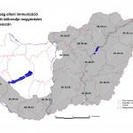 Veszettség elleni immunizációs térkép